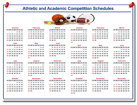 Athletic/Academic Competition Schedules