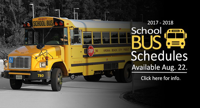 2017 - 2018 School Bus Schedules Available Aug. 22. Click here for info.