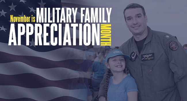 November is Military Family Apperciation Month